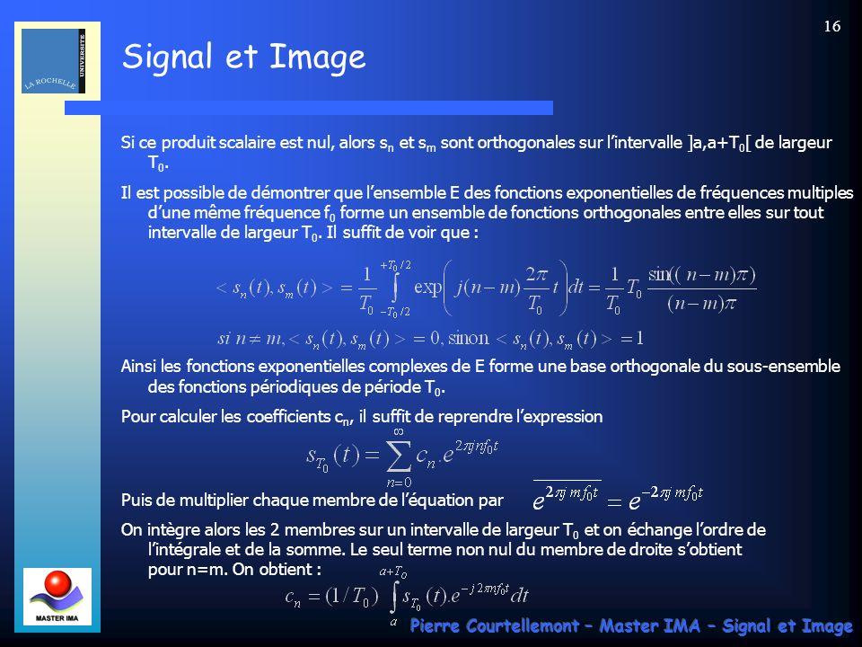 Si ce produit scalaire est nul, alors sn et sm sont orthogonales sur l'intervalle ]a,a+T0[ de largeur T0.